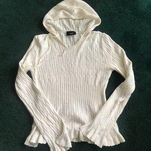 Hooded Vneck Sweater